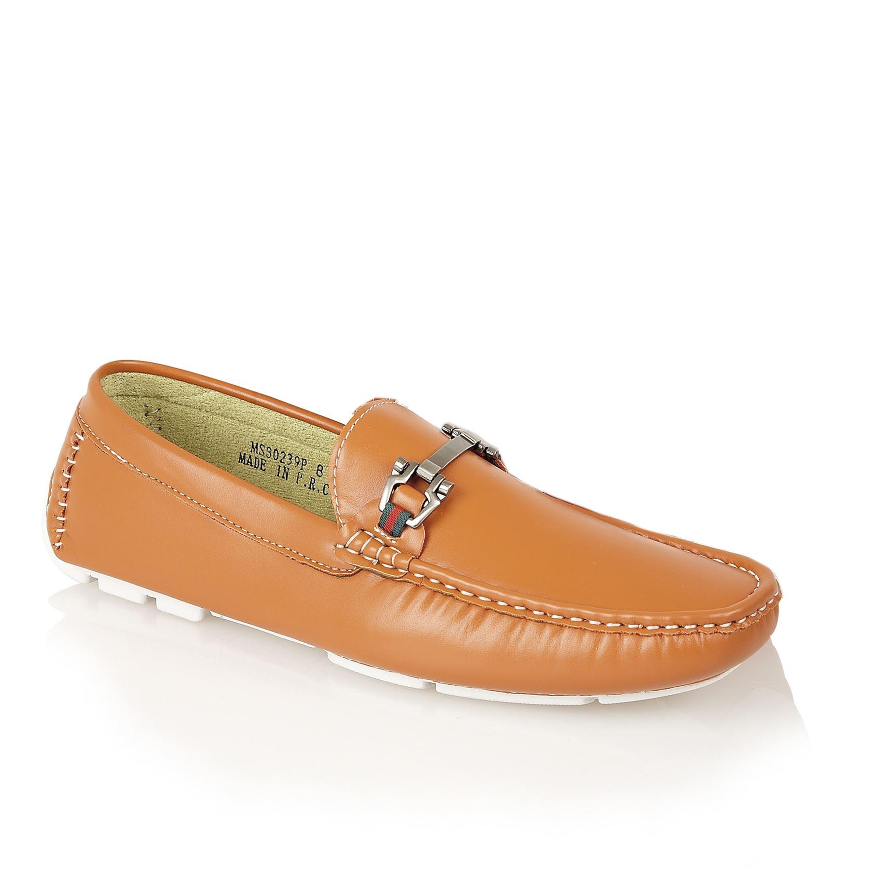 brit mens designer casual loafers moccasins driving