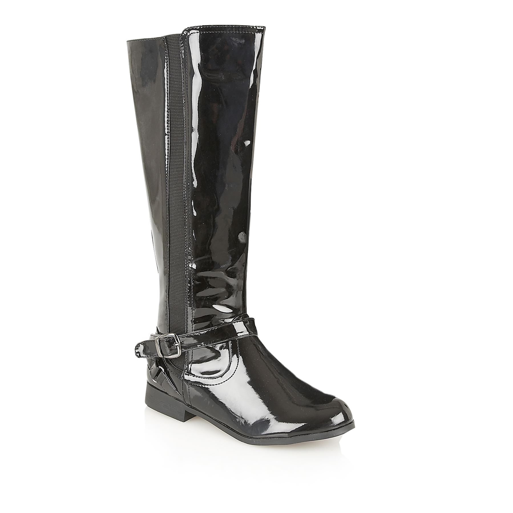 casandra designer biker knee high winter faux