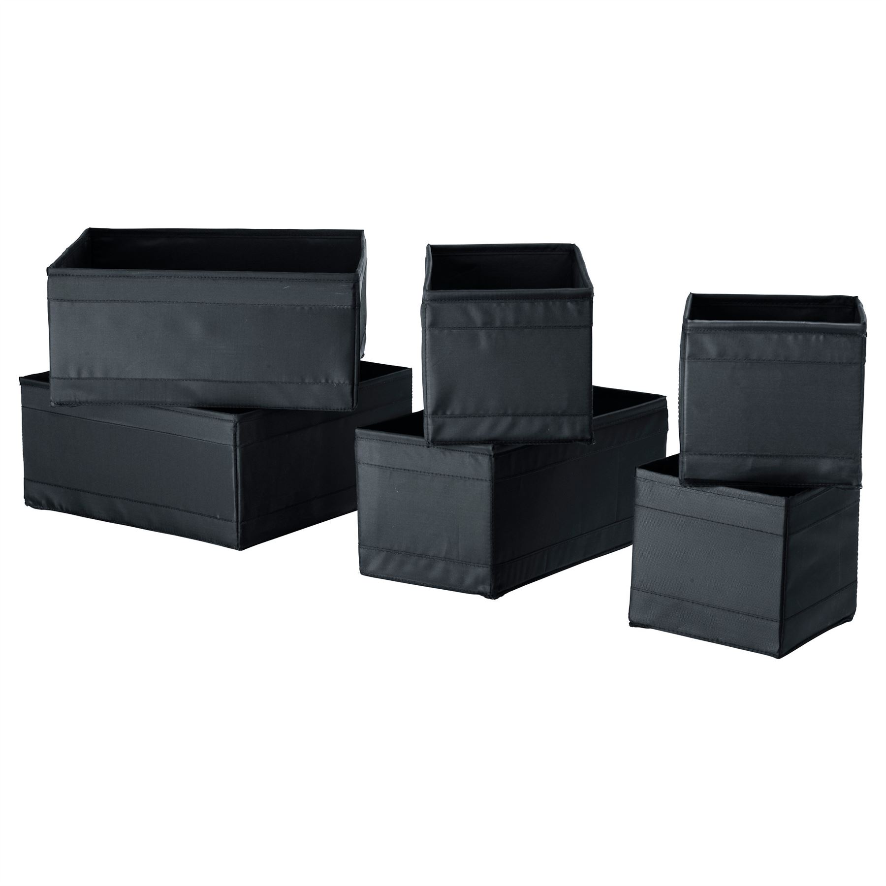 ikea skubb set of 6 storage box organizer wardrobe drawer. Black Bedroom Furniture Sets. Home Design Ideas