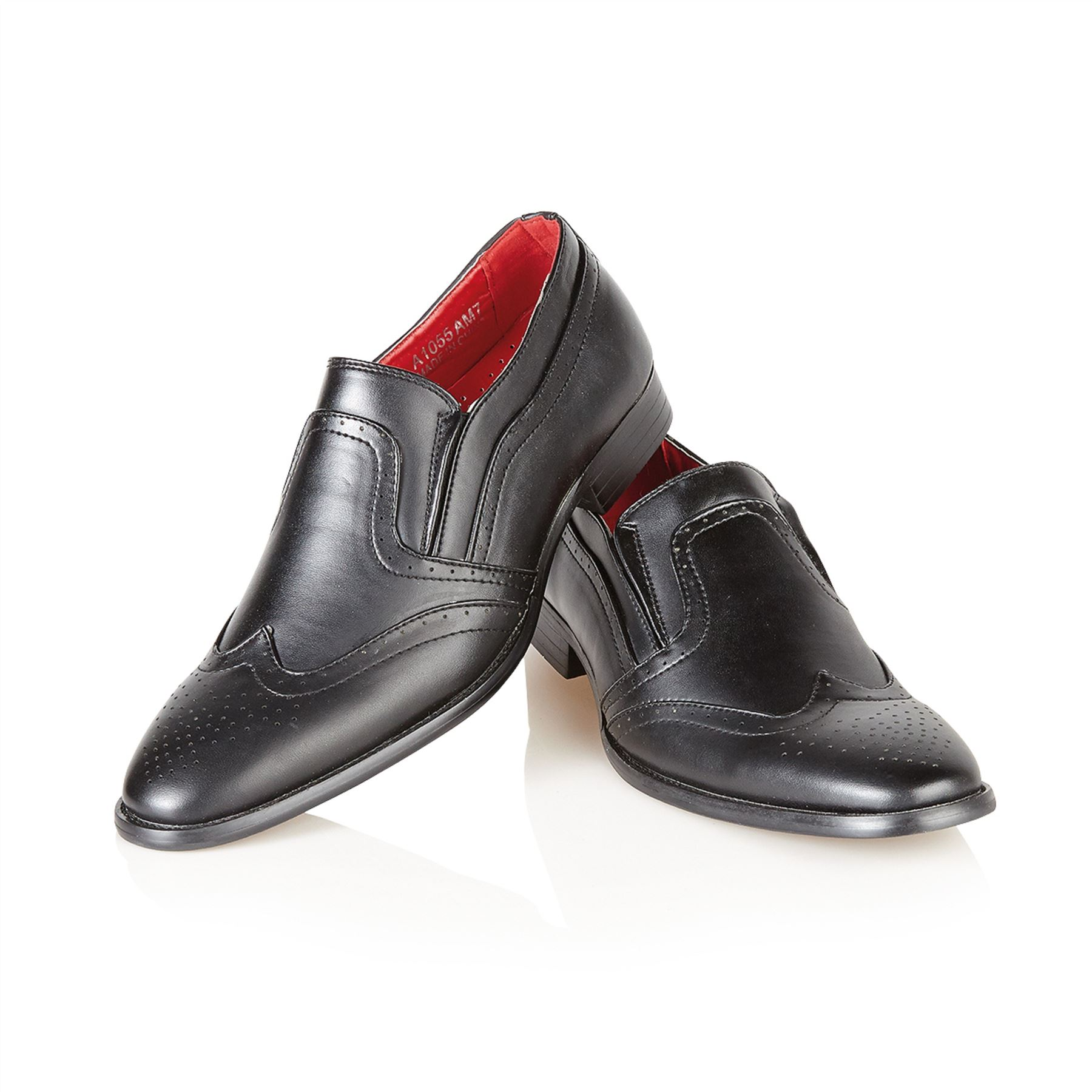 maverick mens italian style formal wedding slip on shoes