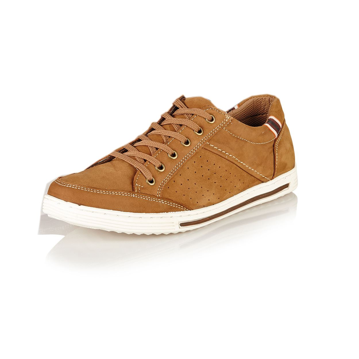 Maverick-Mens-Nubuck-Leather-Lace-Up-Casual-Gym-Trainers-Shoes-Size