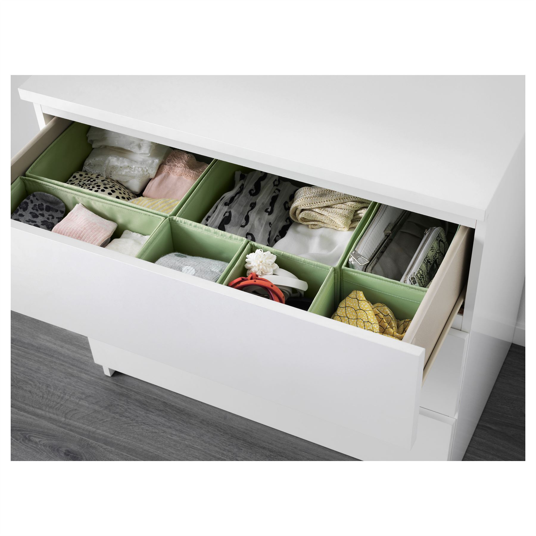 Ikea skubb set of 6 storage box organizer wardrobe drawer for Storage wardrobe ikea