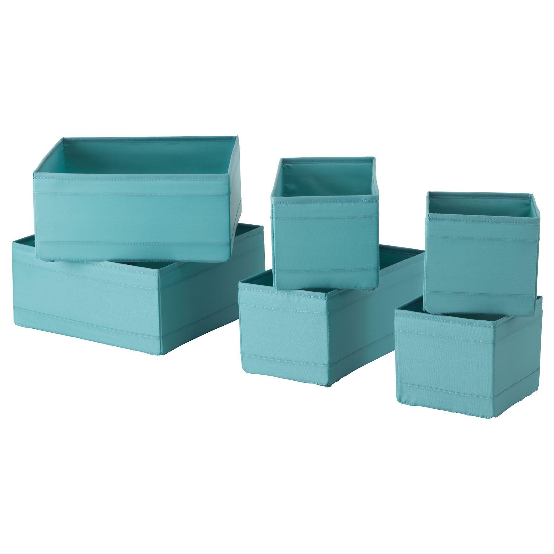 ikea skubb set of 6 storage box organizer wardrobe drawer. Black Bedroom Furniture Sets. Home Design Ideas
