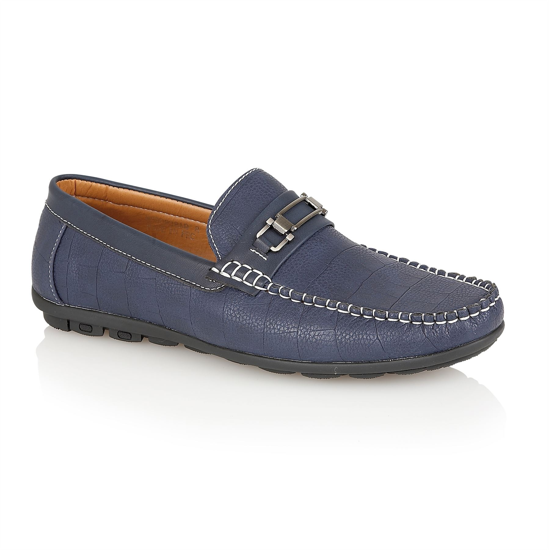 afe9cbe4673 Mens Designer Leather Look Italian Loafers Casual Moccasin Driving Shoes  Size
