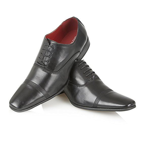 mens lace up slip on leather lined office wedding formal
