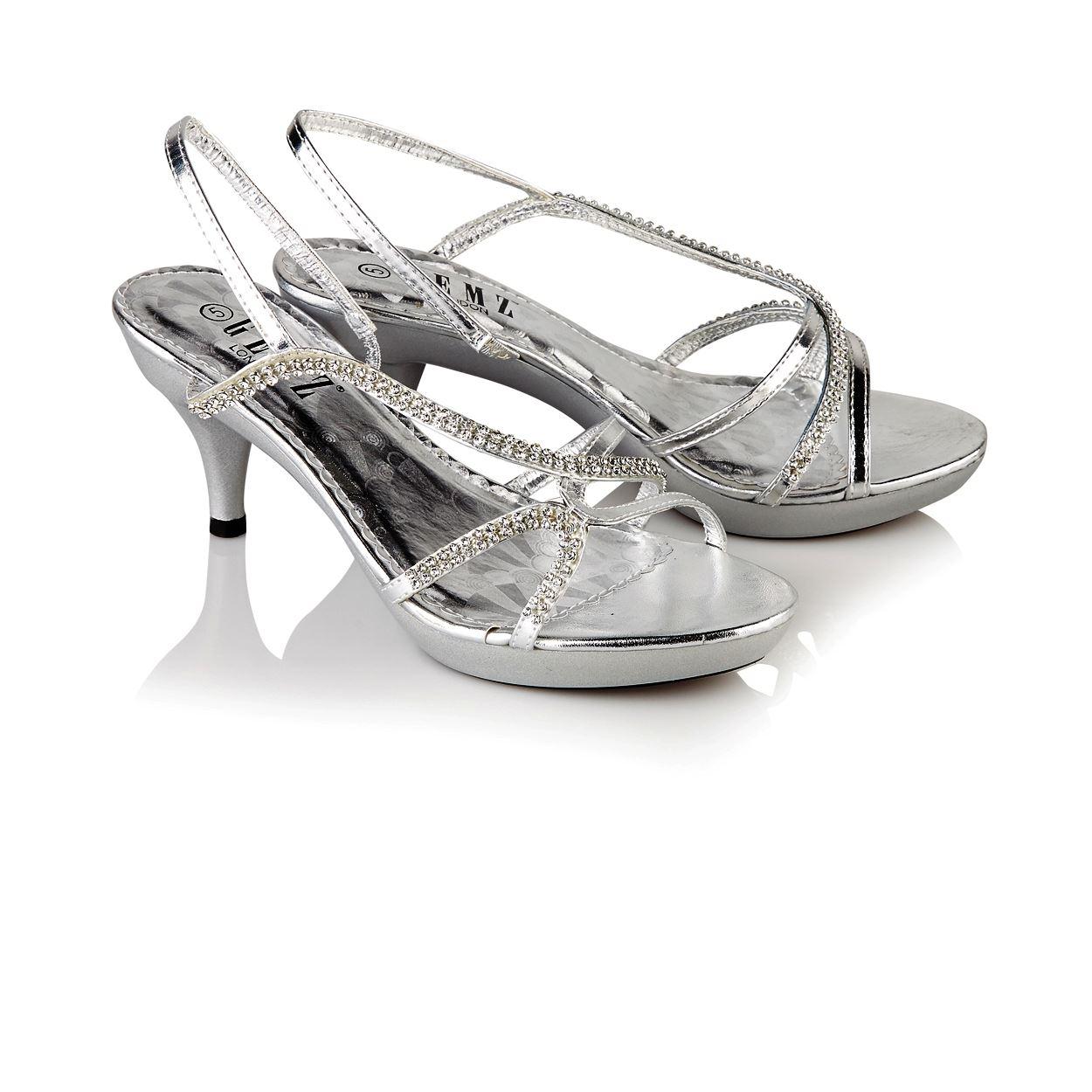 womens wedding evening prom shoes mid heel