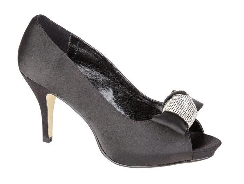 womens evening peep toe sandals diamante wedding