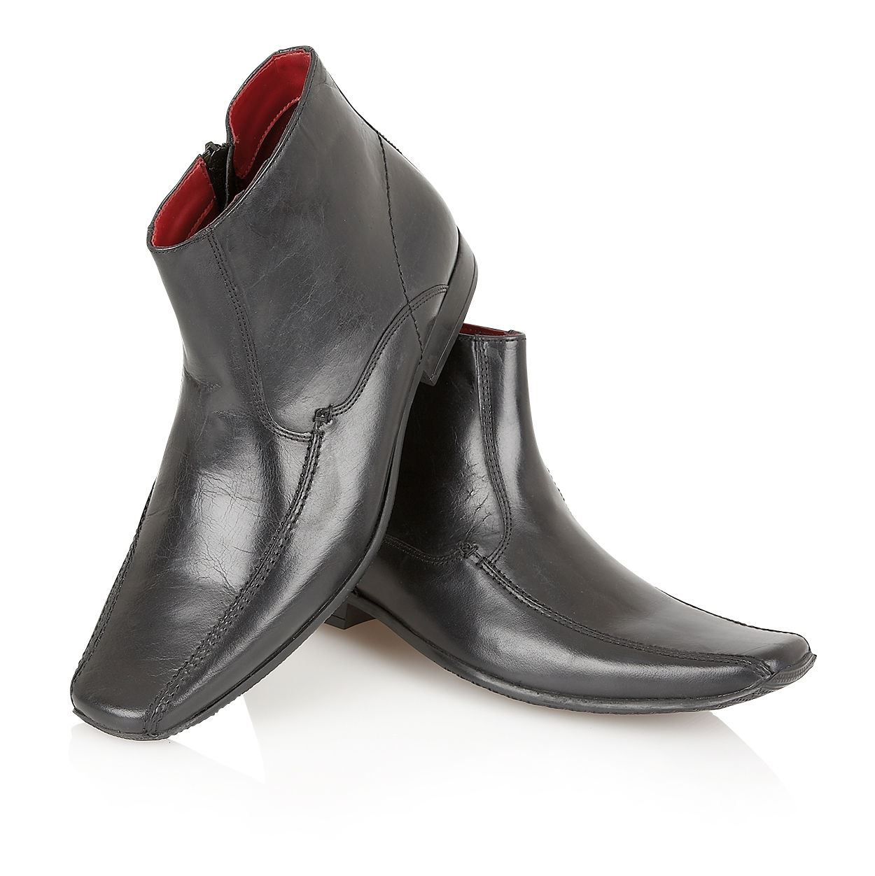 mens italian style real leather designer ankle boot formal