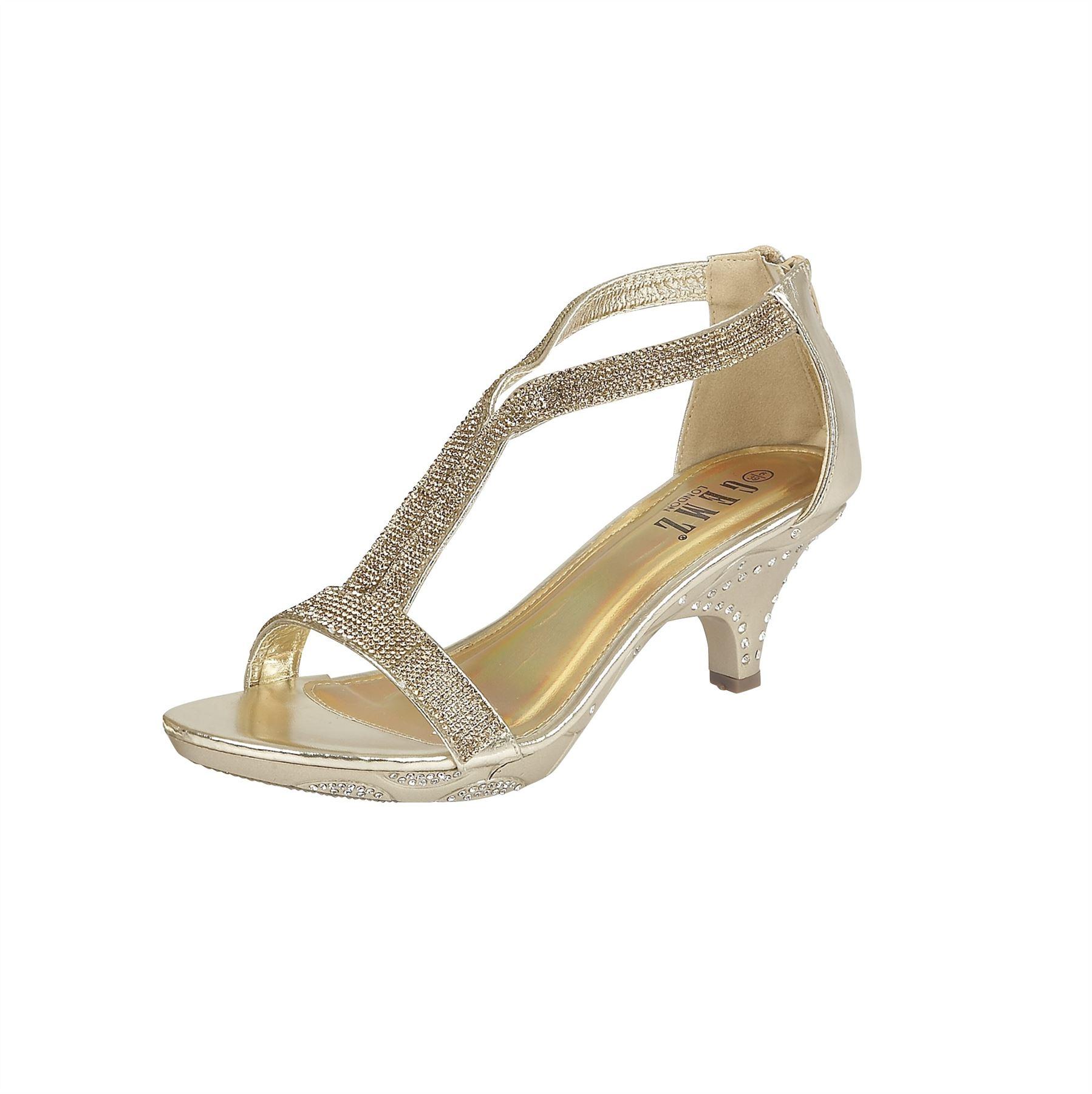 new womens evening prom wedding sandals mid heel