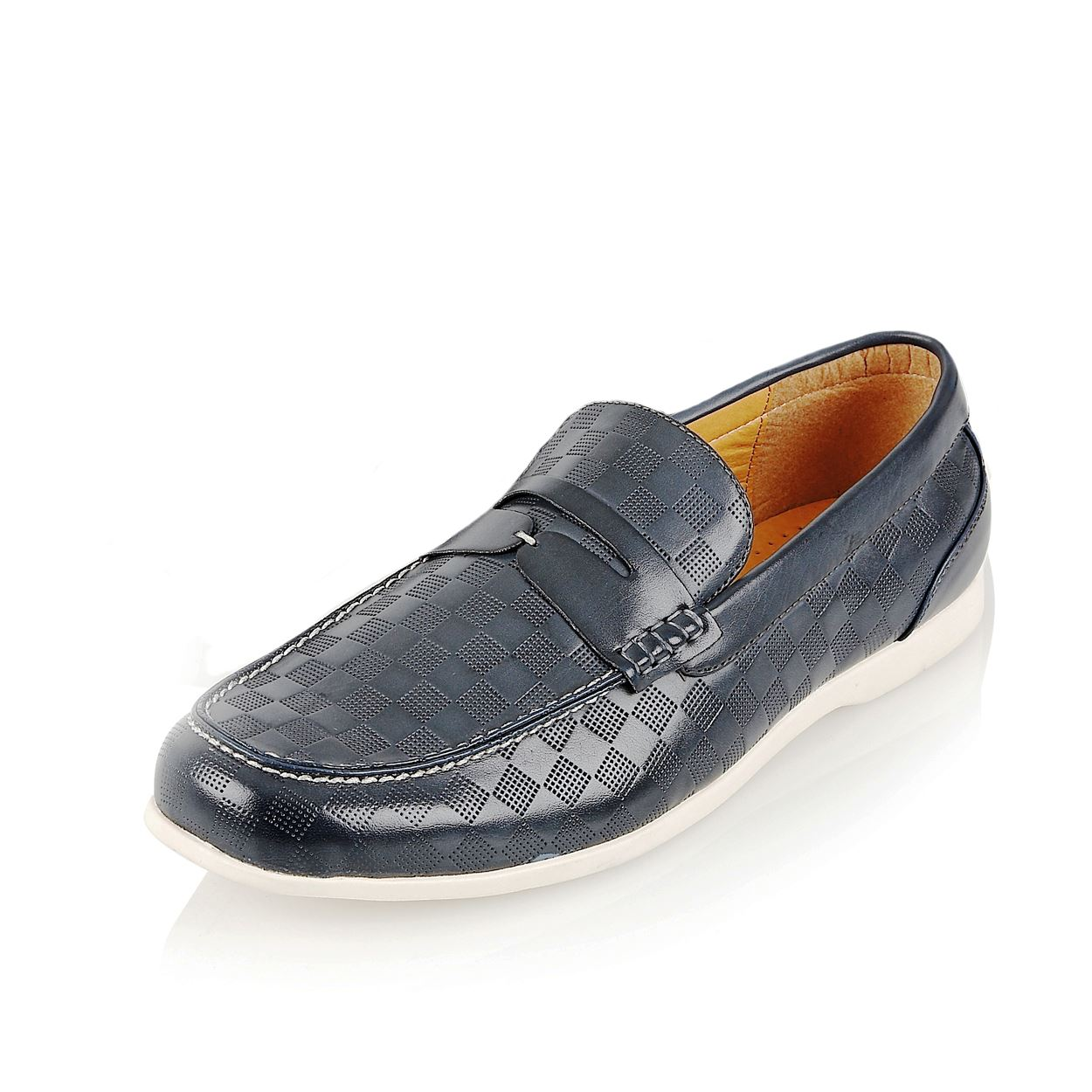 Mens Stylish Pu Leather Loafers Moccasins Casual Slip On Shoes Size   EBay
