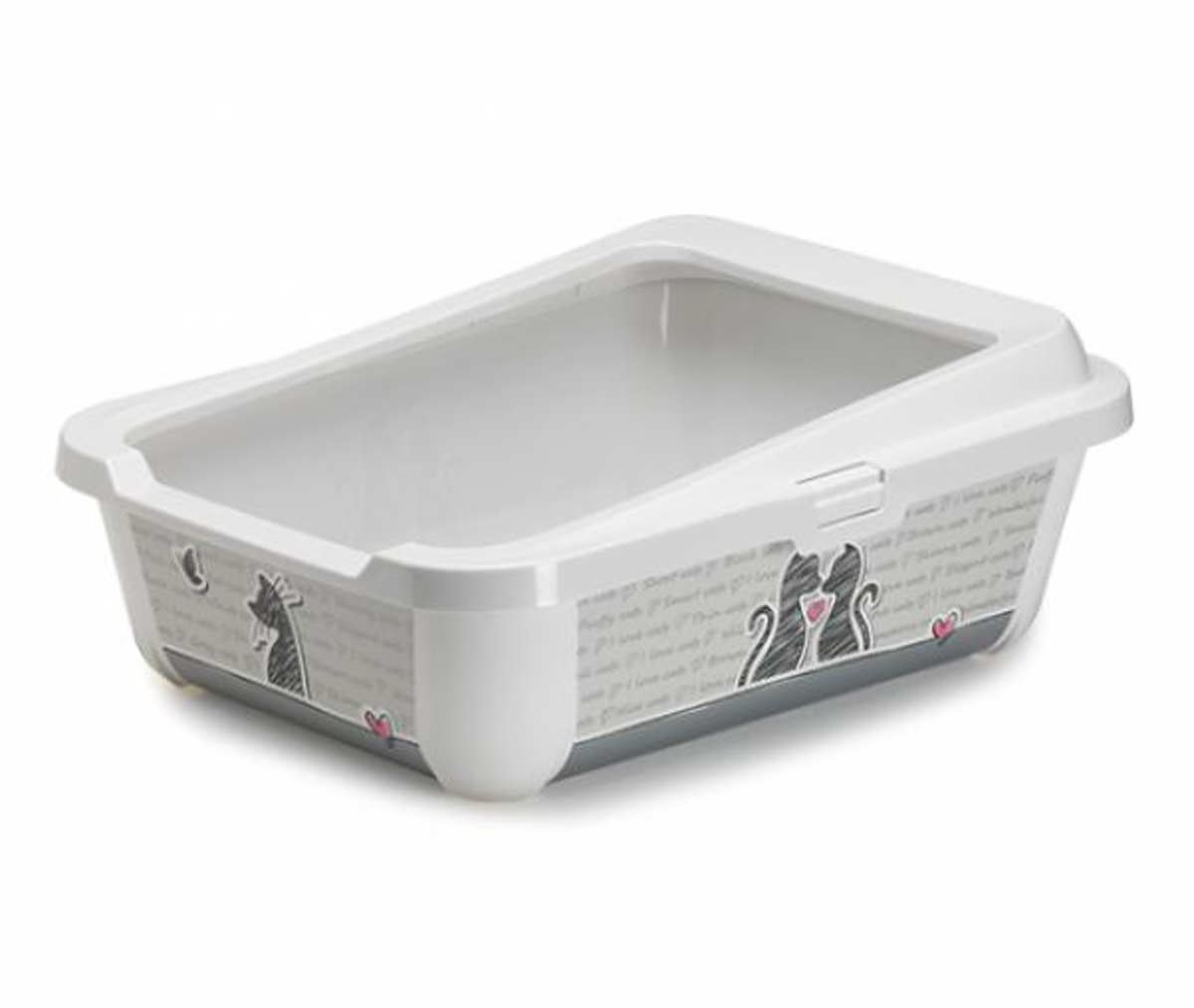 Cat Large Litter Tray With Rim 51x39x19cm 2 Designs