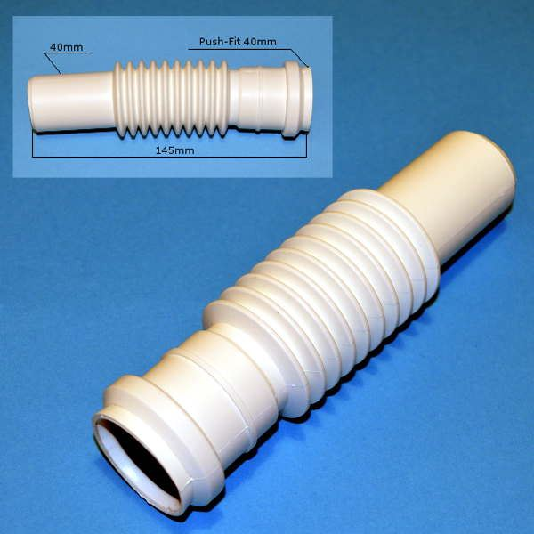 flexible waste soil pipe connector sw9 elbow push fit 40. Black Bedroom Furniture Sets. Home Design Ideas