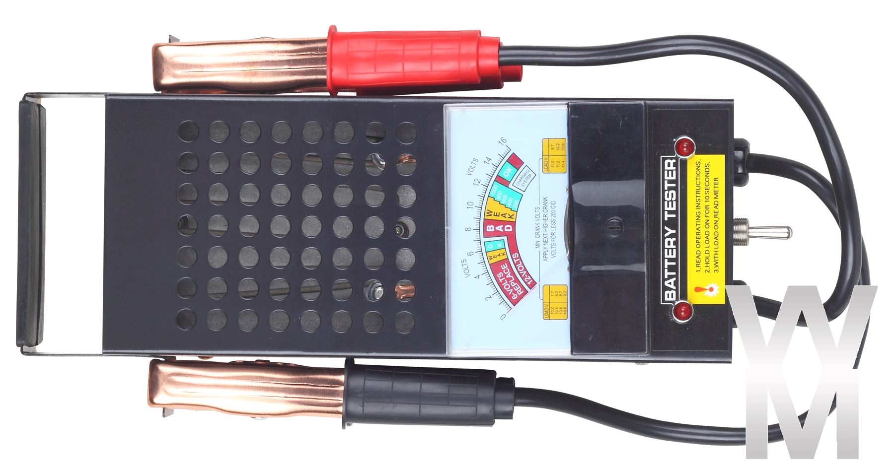 how to read a battery load tester