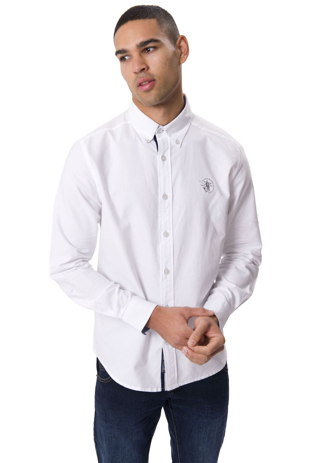 Collarless Shirts The traditional look for business is a collared shirt. Today, men and women have a variety of options, like collarless shirts, available to them to change up this classic look.