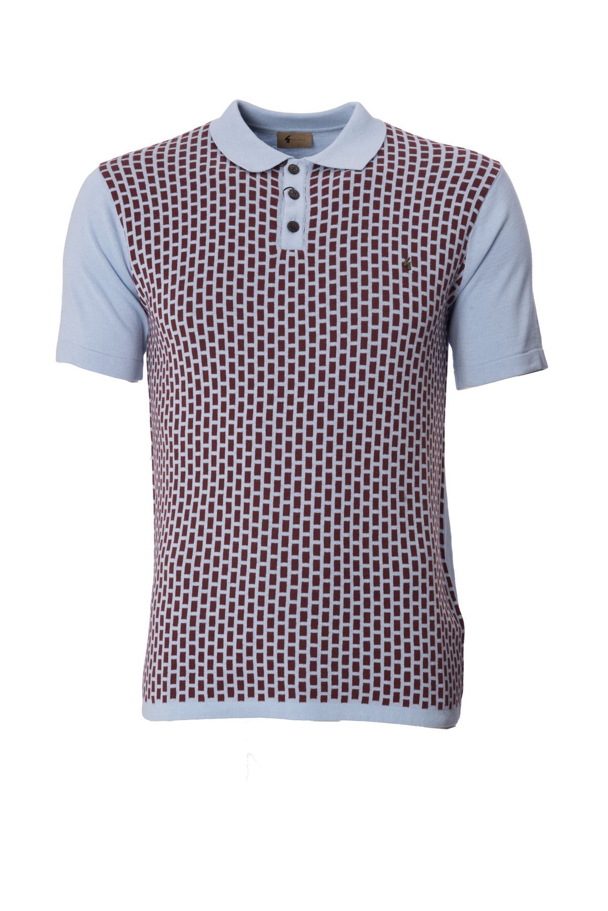 Gabicci designer mens knitted polo shirt collared short for Knitted polo shirt mens