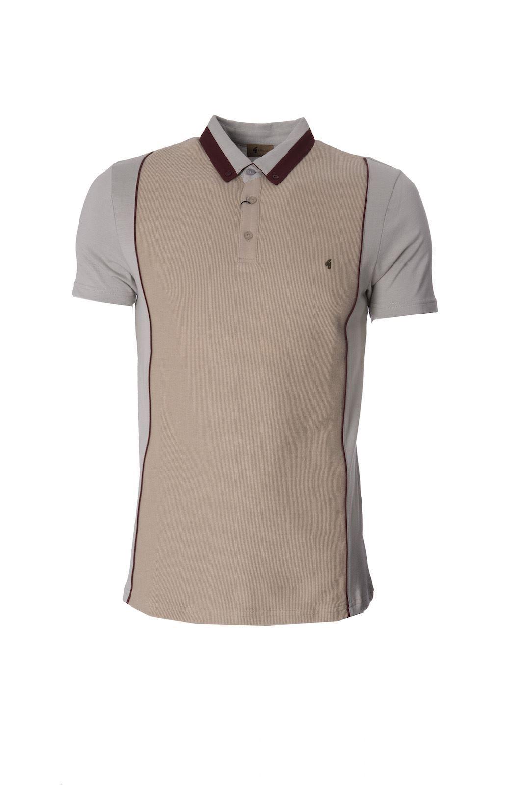 Gabicci Designer Mens Polo Shirt Button Down Collar Short