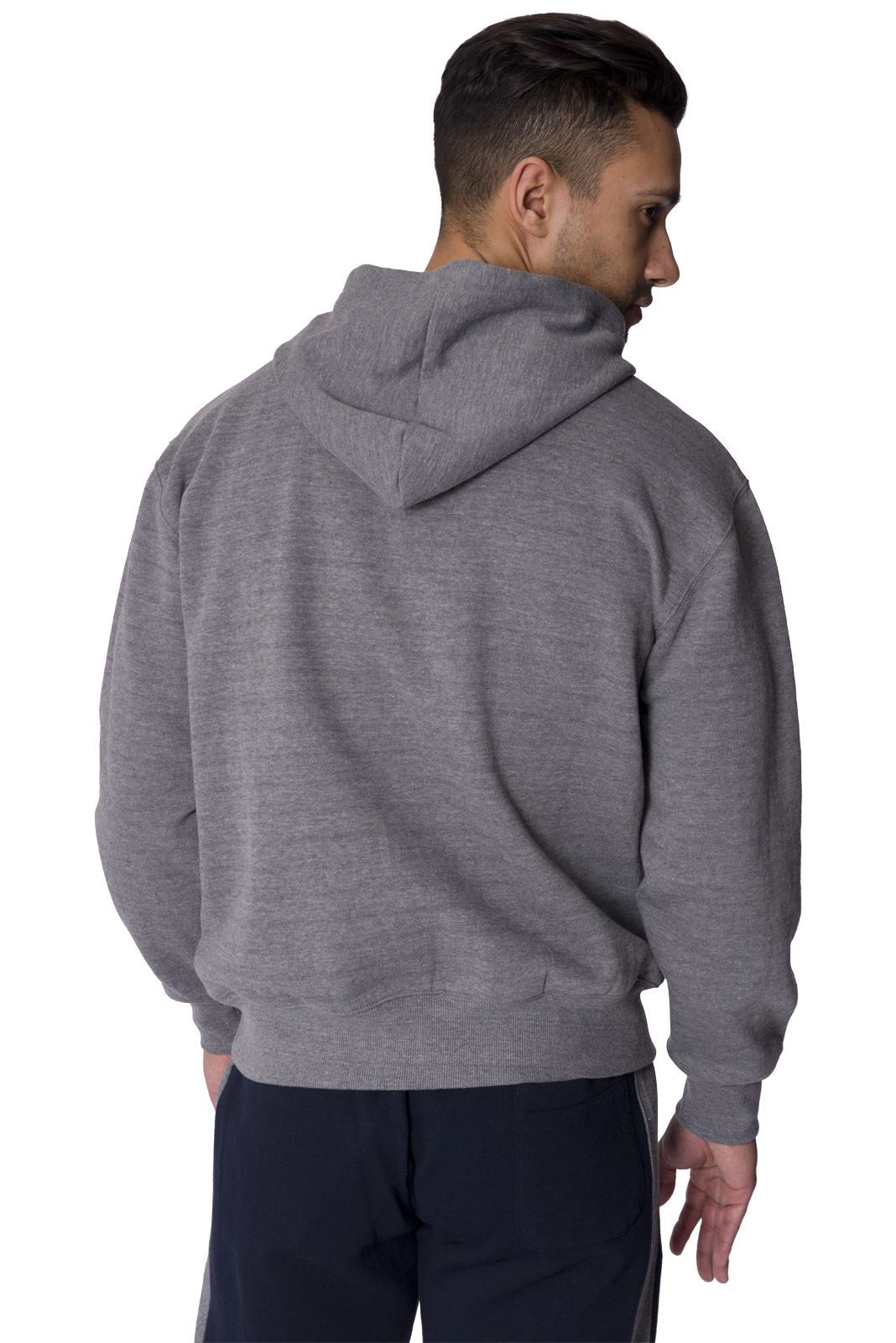 Slazenger mens hooded sweat shirt top casual long sleeve for Mens long sleeve pullover shirts