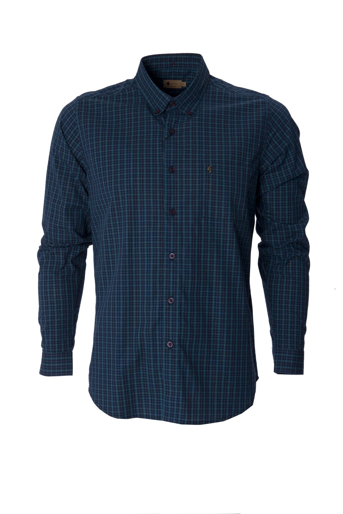 Gabicci mens check shirt button down collared long sleeve for Best casual button down shirts