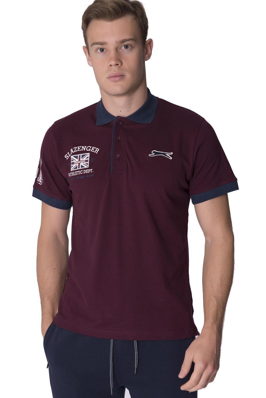 Slazenger new mens short sleeve collared cotton polo top for Xxl mens polo shirts