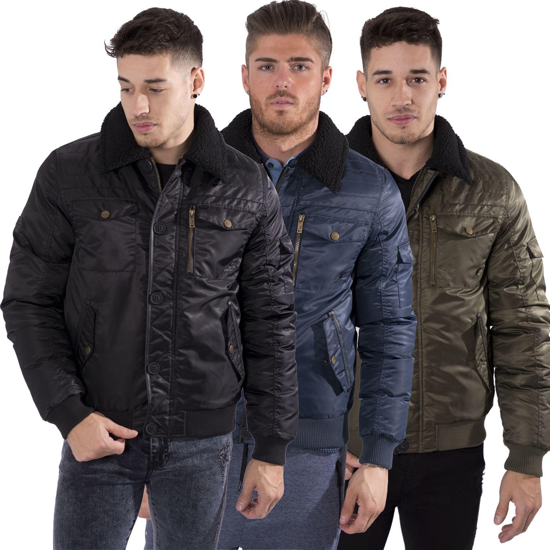 Men's jacket collar - Mens Bomber Jacket Fur Collar
