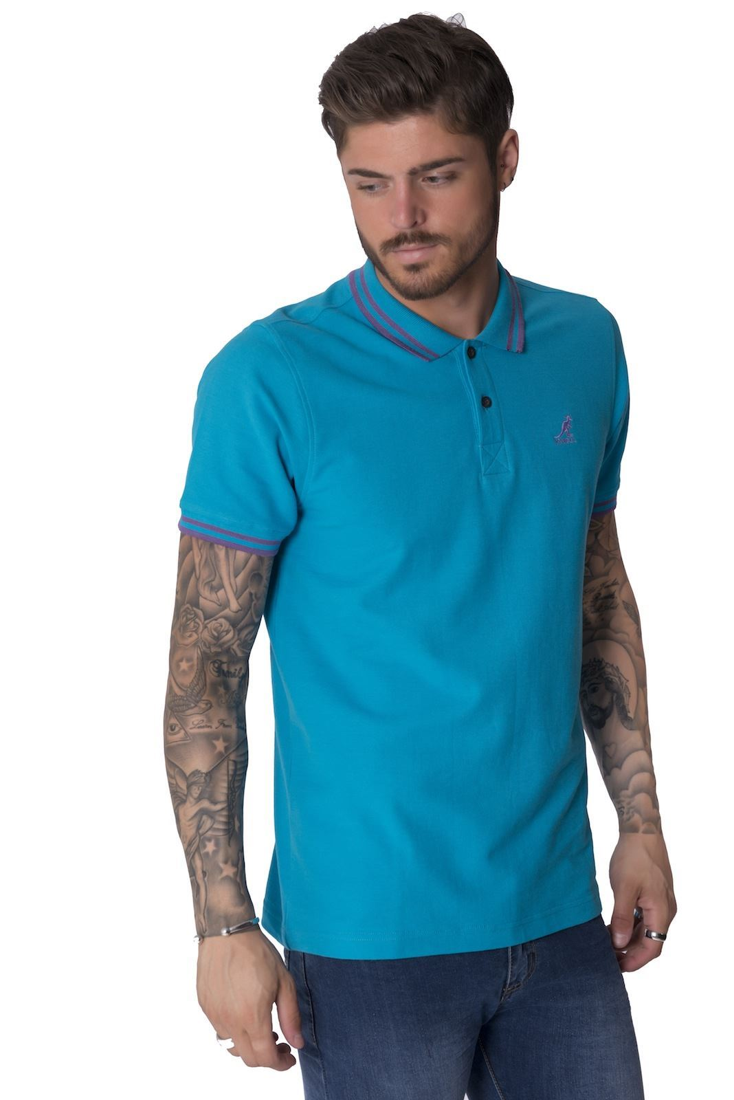 Kangol joshua new big mens plus size short sleeve polo for Plus size men shirts