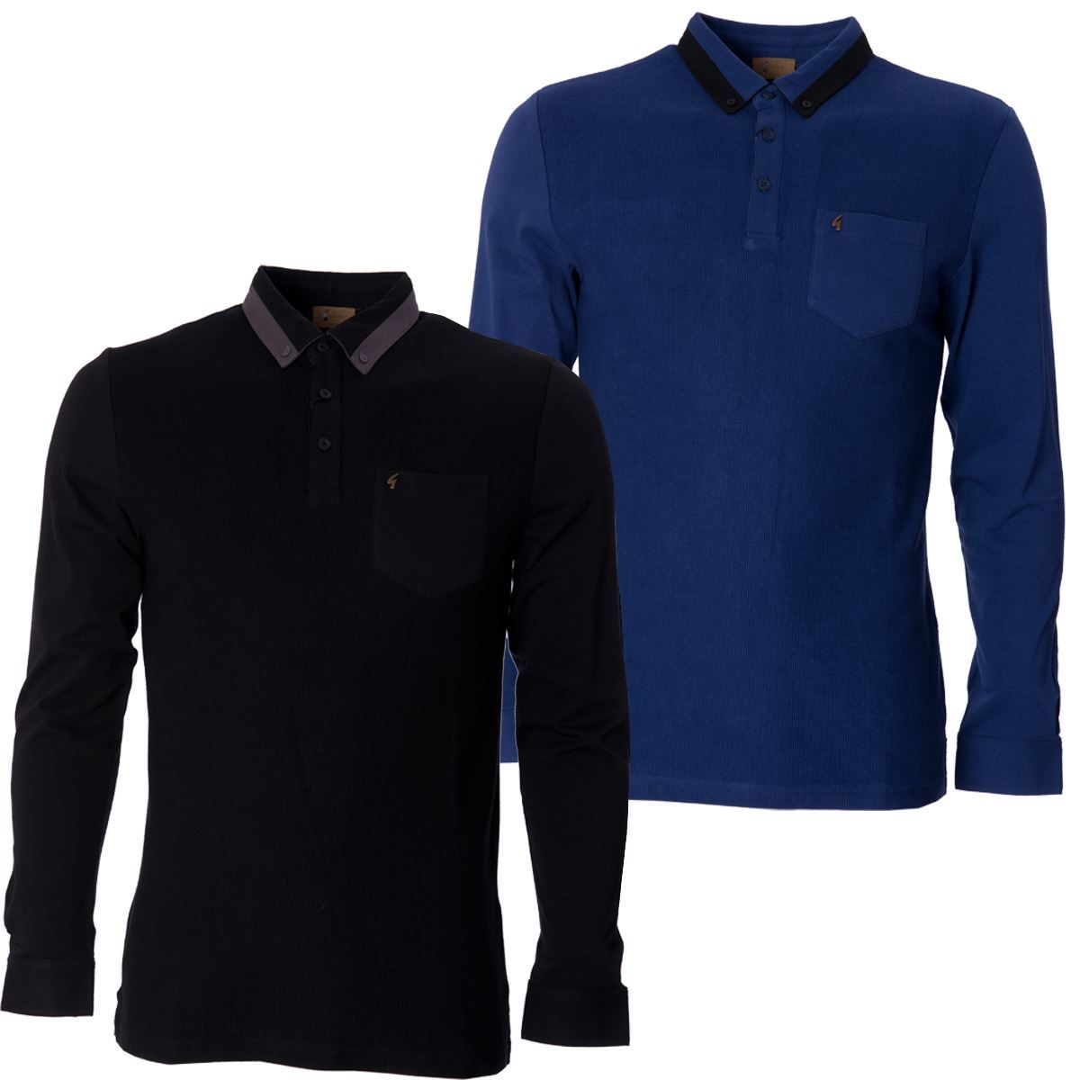 Gabicci mens polo shirt button down collared long sleeve for Mens long sleeve collared polo shirts