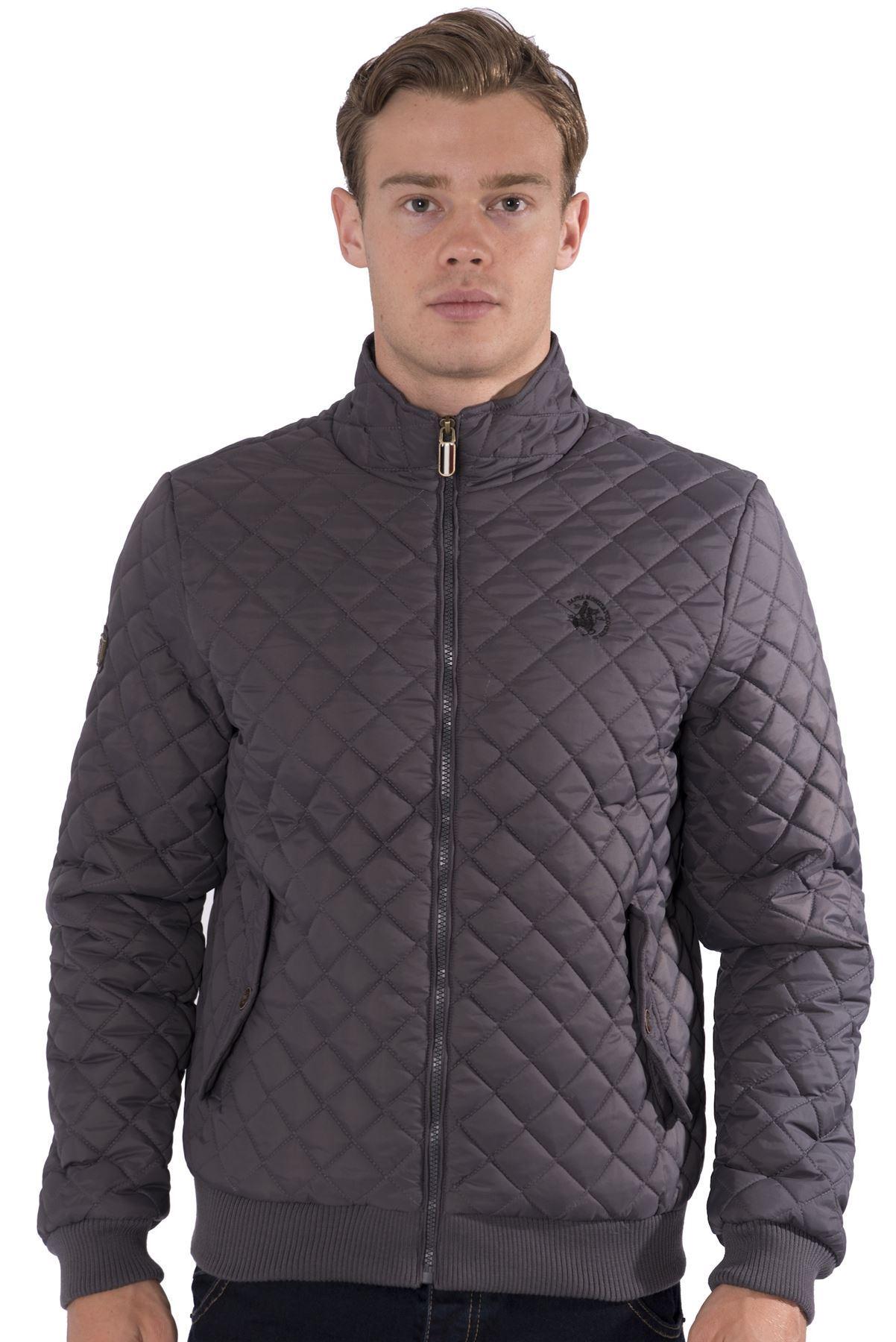 Mens zip up denim jacket