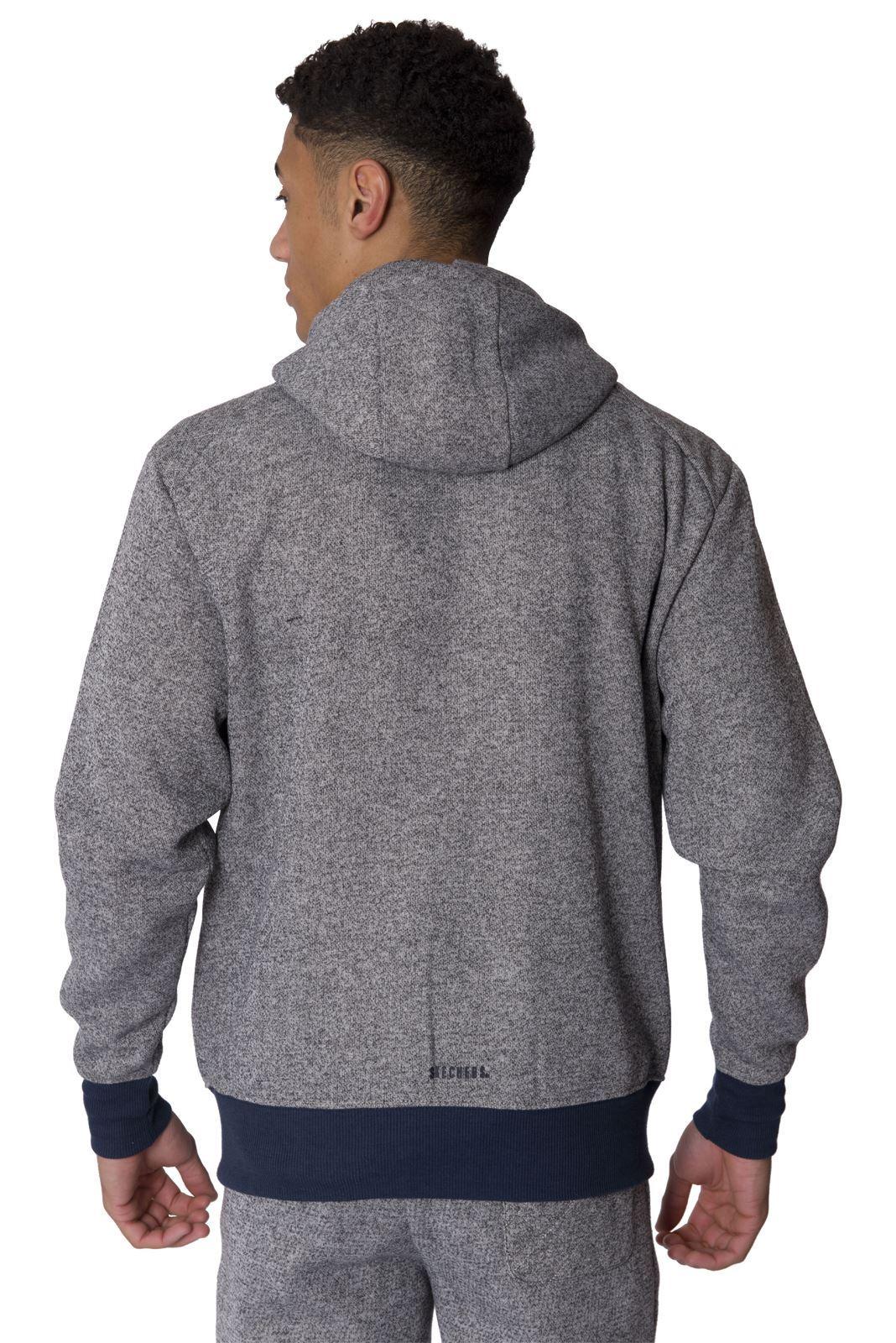 Skechers Mens Sweat Hoodie Casual Zip Up Hoody Coat ...
