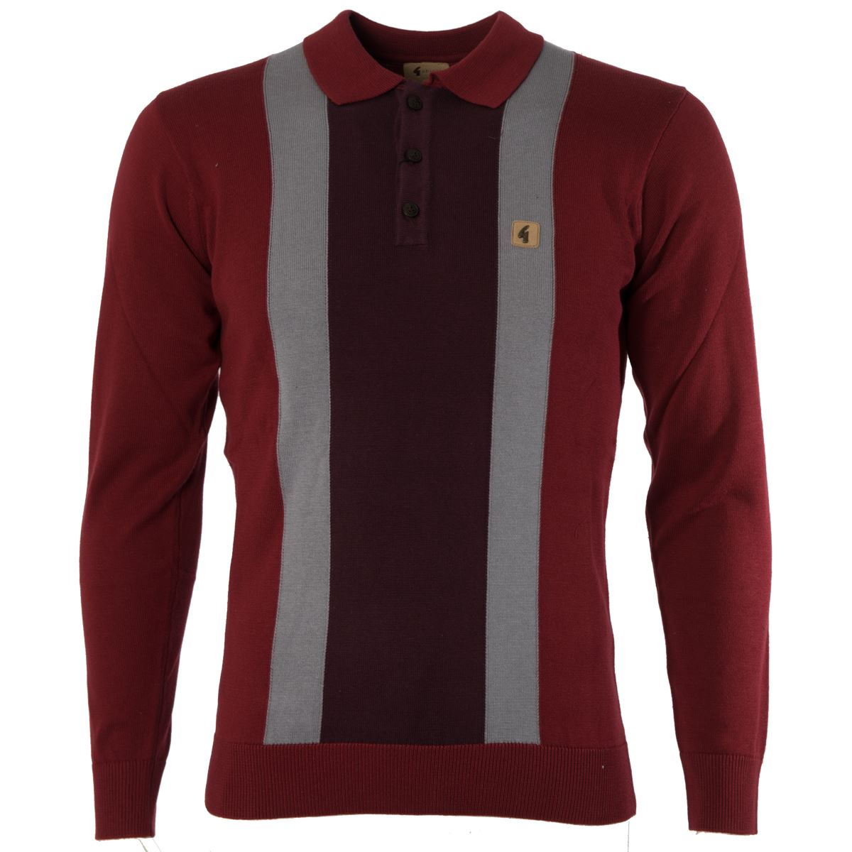 Gabicci vintage mens knitted polo shirt knitwear long for Knitted polo shirt mens