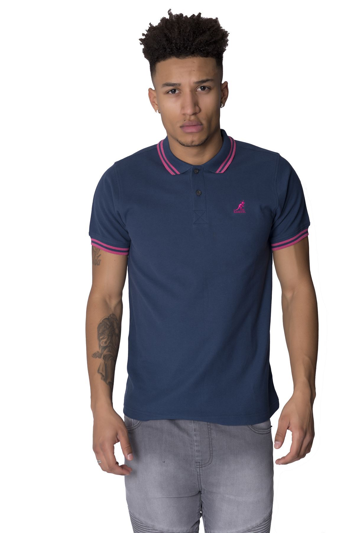 Kangol joshua new big mens plus size short sleeve polo for Big mens t shirts