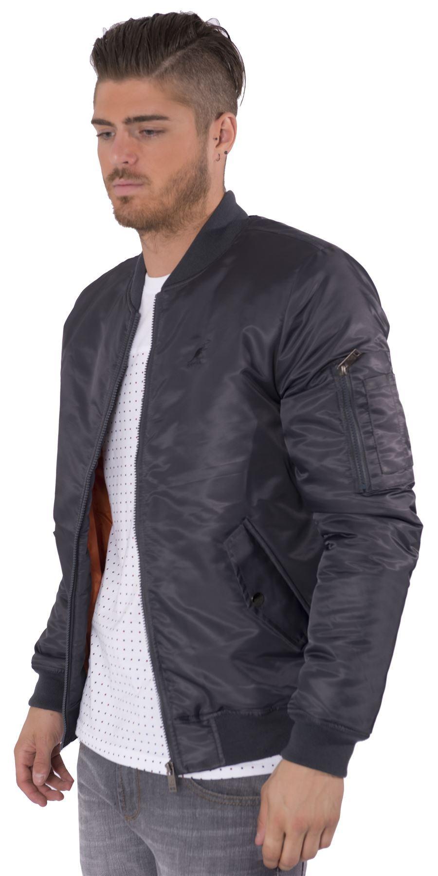 Kangol Mens Designer Bomber Jacket Winter Coat Sizes S-XL | eBay