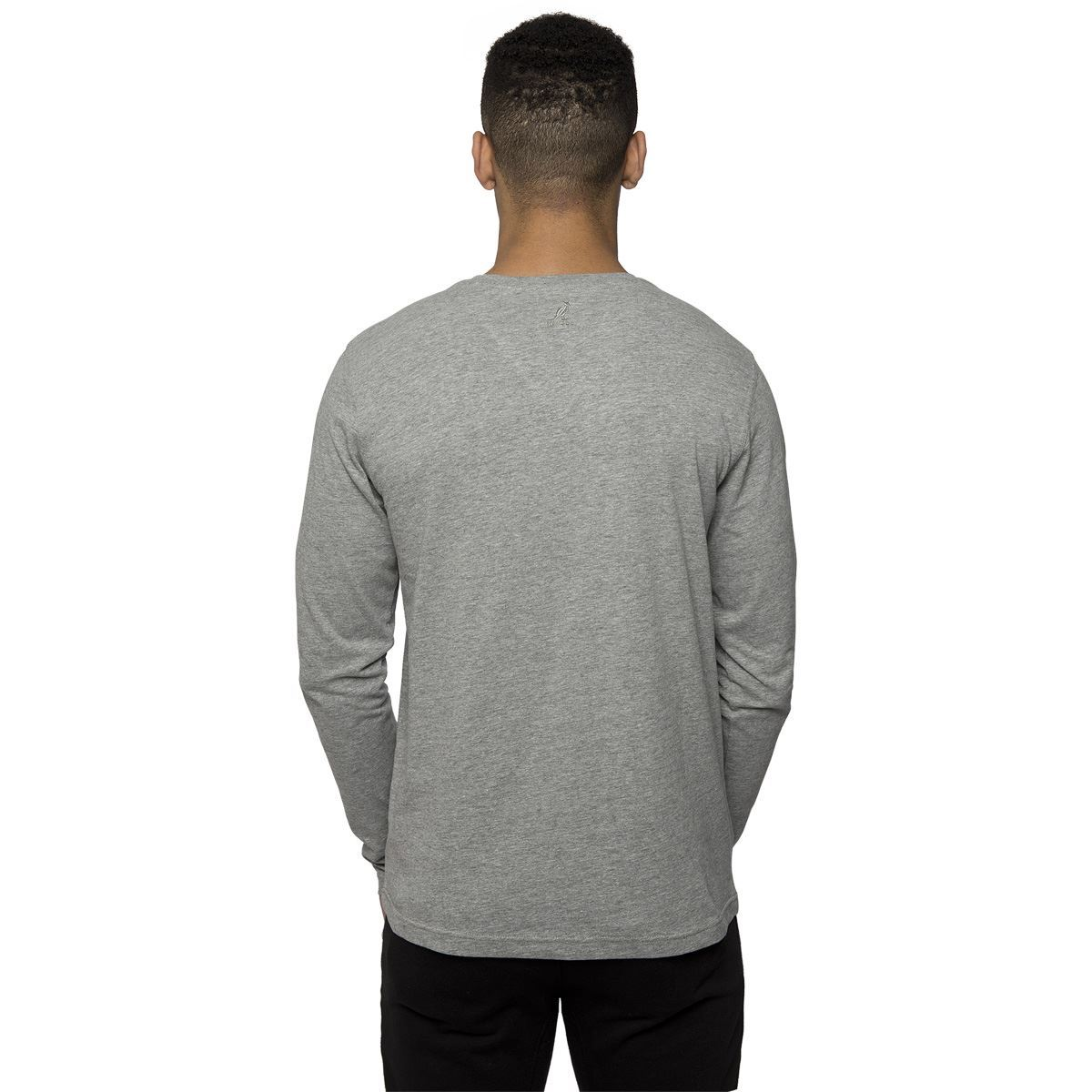 Kangol mens casual long sleeved t shirt button fastening for Xxl long sleeve t shirts