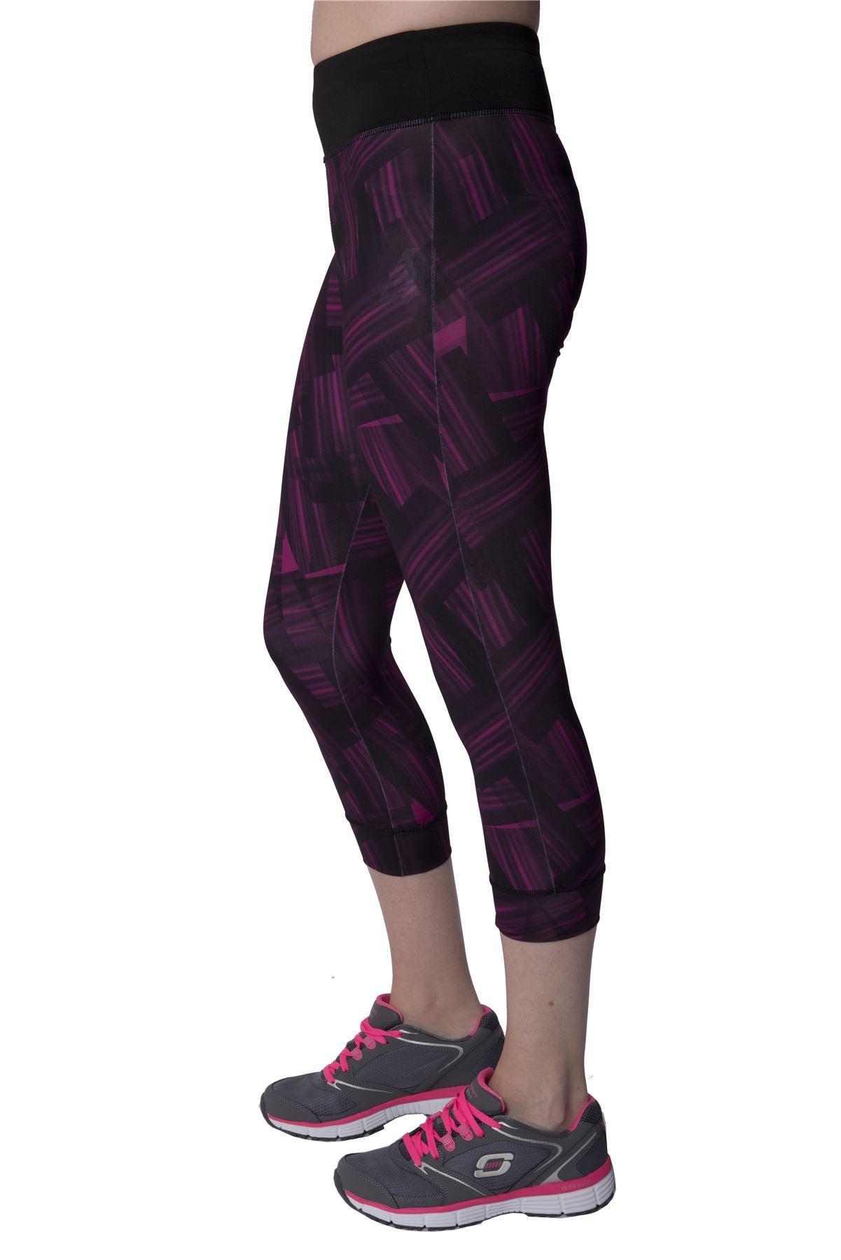 skechers womens gym sports leggings 3 4 pants ladies yoga. Black Bedroom Furniture Sets. Home Design Ideas