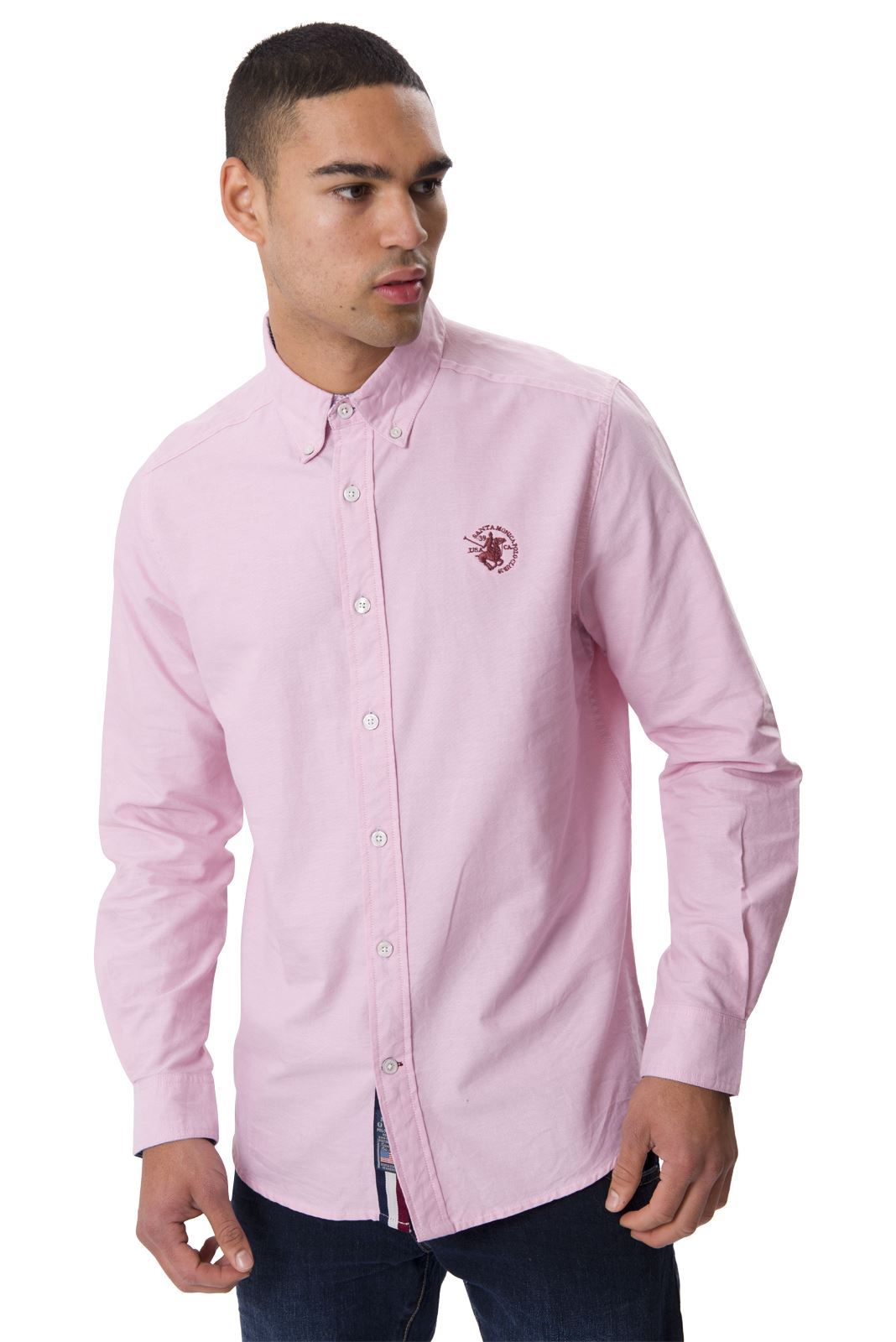 Santa monica polo club mens long sleeve plus size collared for Best long sleeve shirts for men