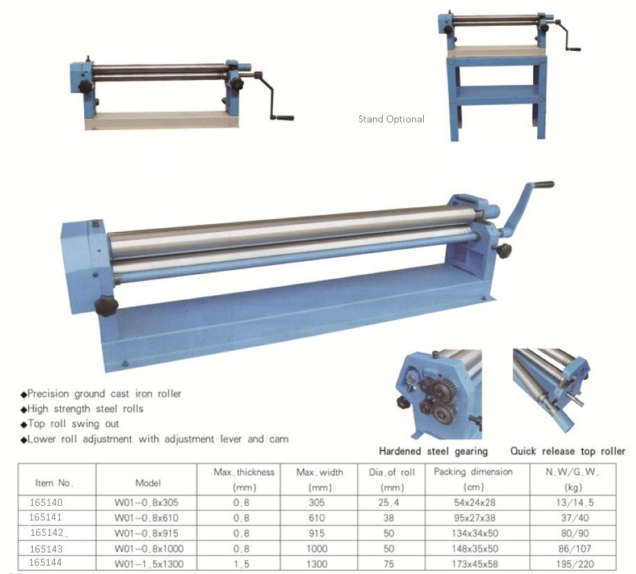sheet metal rolling machine