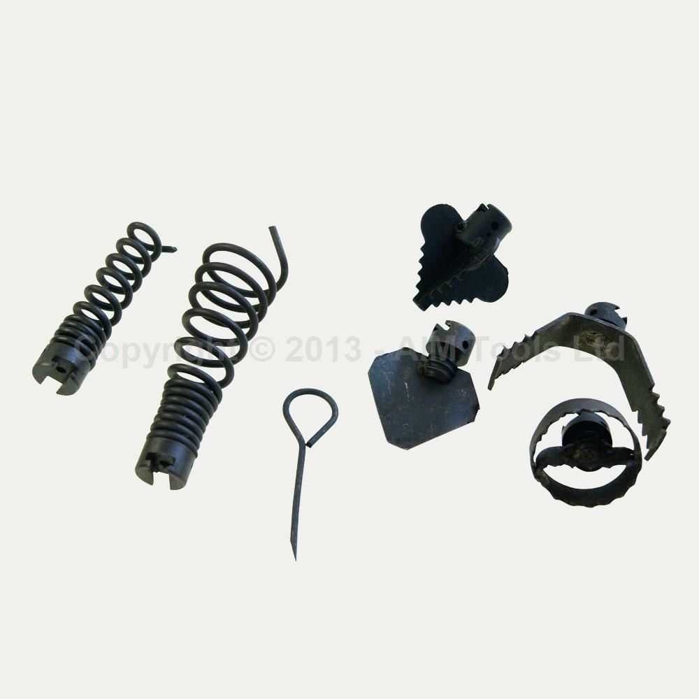 drain cleaning machine parts