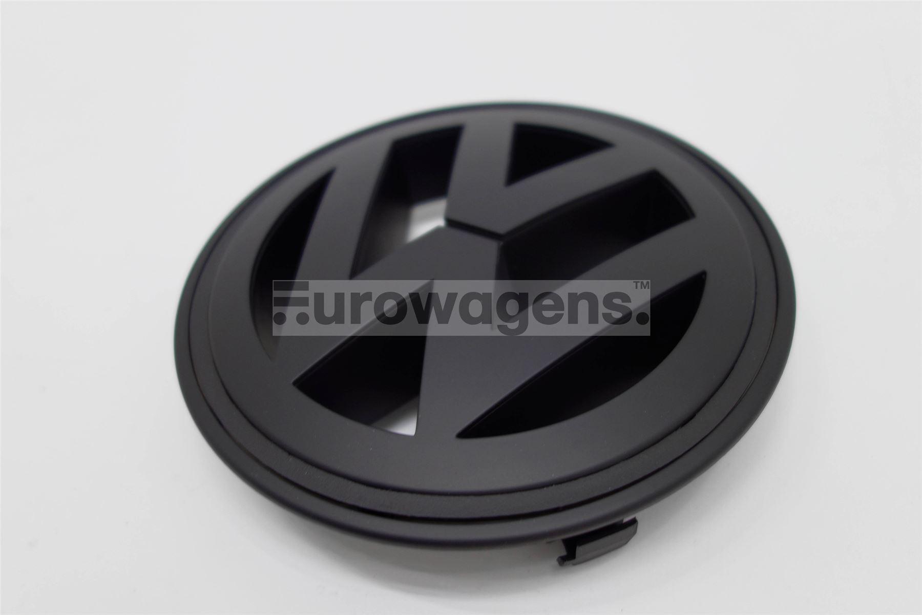 grill emblem schwarz matt vw golf 5 gt jetta r line ebay. Black Bedroom Furniture Sets. Home Design Ideas