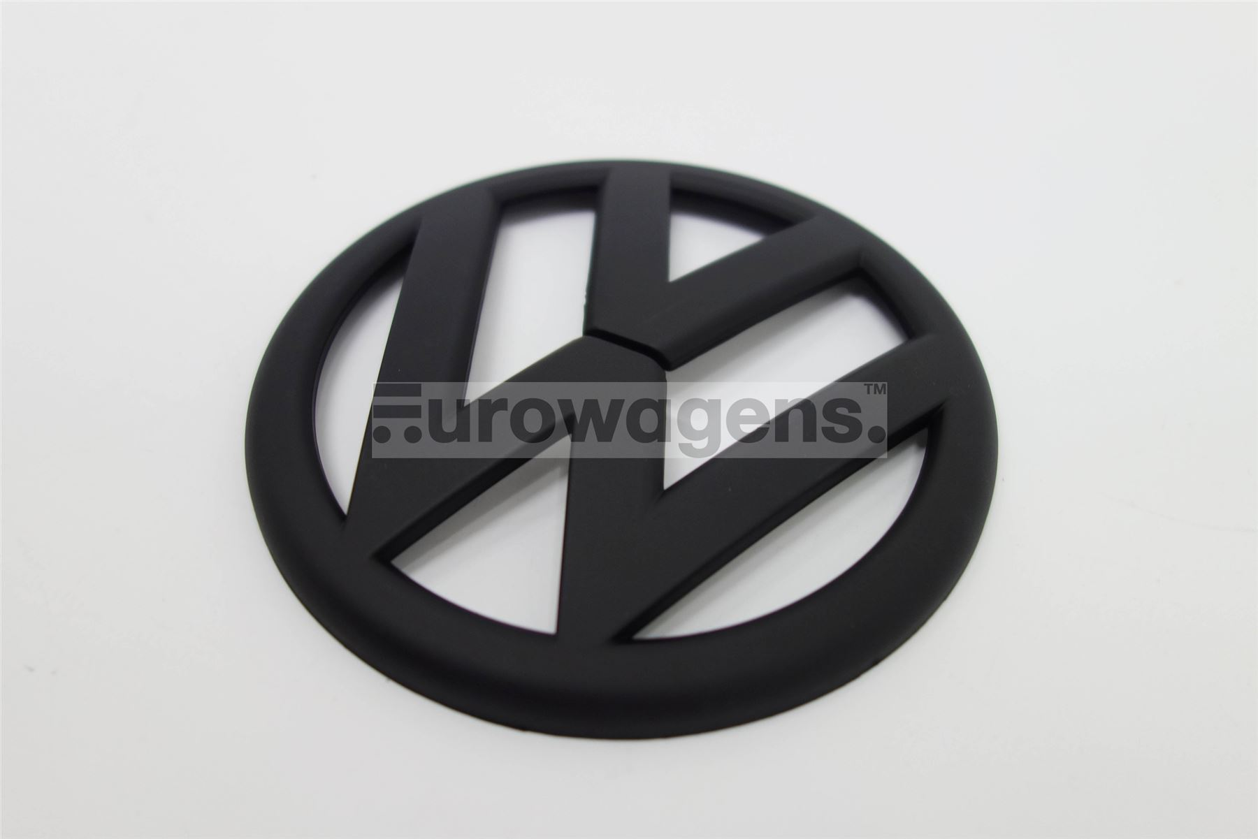 heckklappe emblem schwarz matt vw golf 6 gti ebay. Black Bedroom Furniture Sets. Home Design Ideas