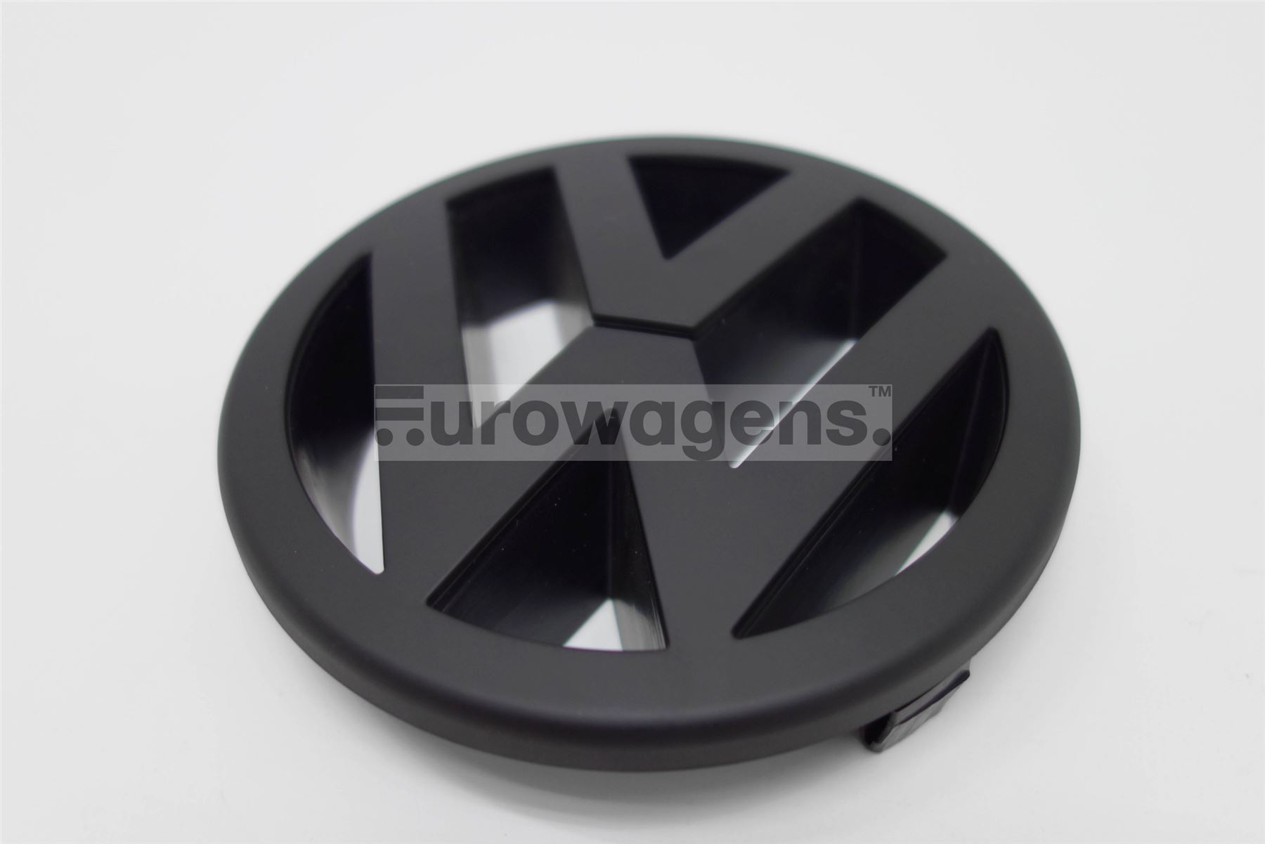 front emblem schwarz matt vw golf 5 gti passat touran polo 9n3. Black Bedroom Furniture Sets. Home Design Ideas