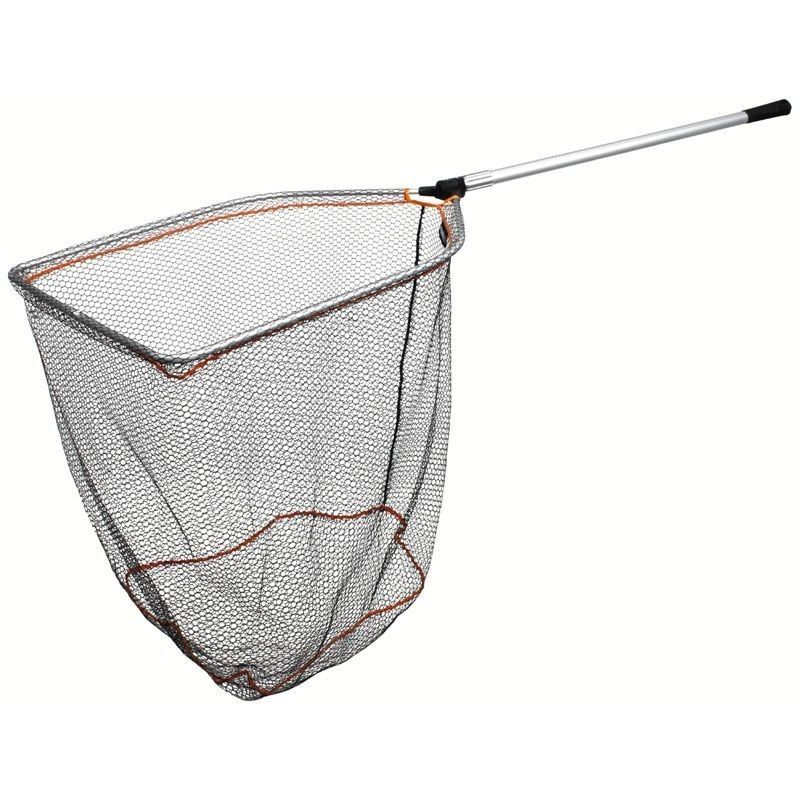 Savage gear pro folding rubber mesh landing nets ebay for Rubber fishing nets