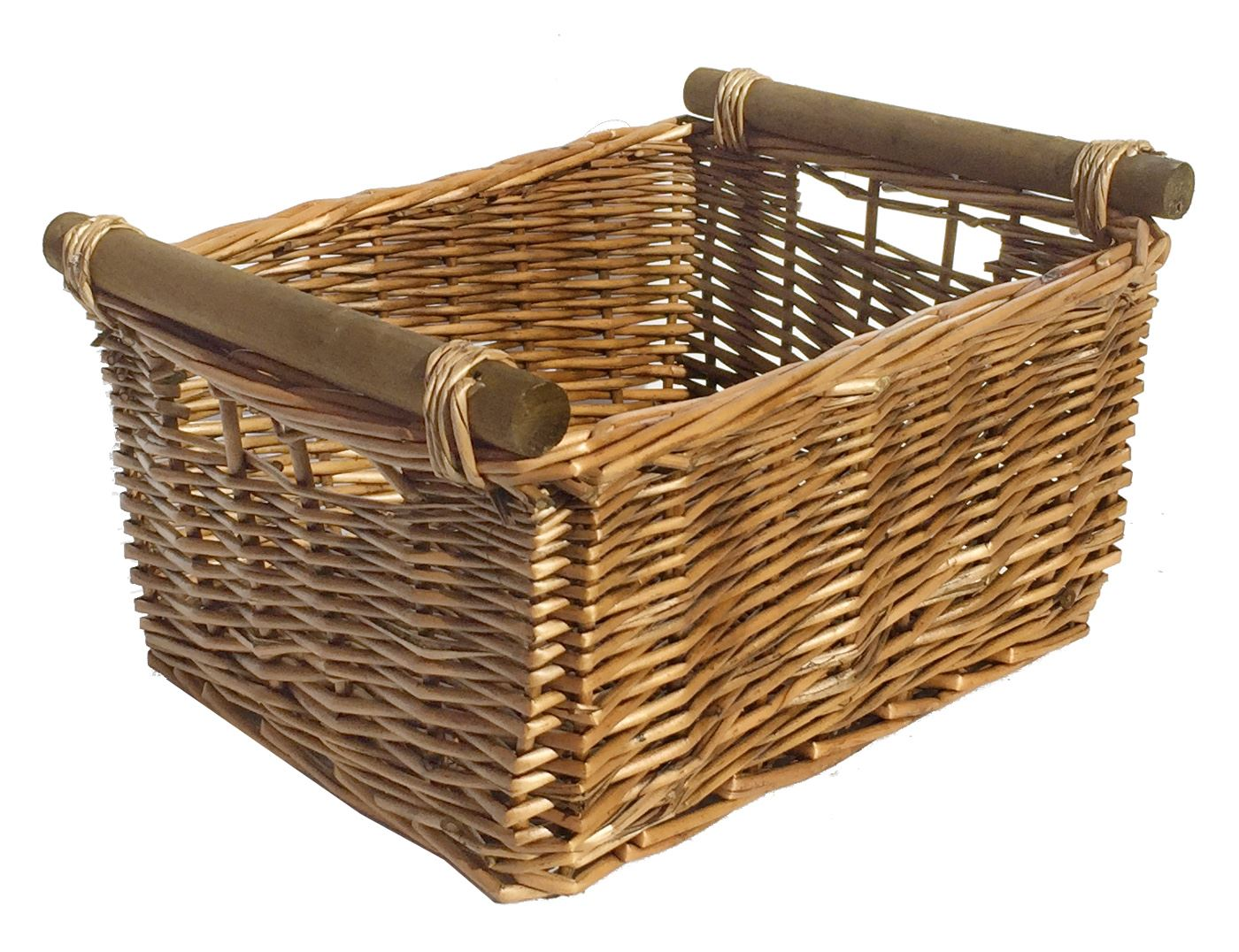 large wicker log basket storage logs firewood fireplace wood carrier hamper gift ebay. Black Bedroom Furniture Sets. Home Design Ideas