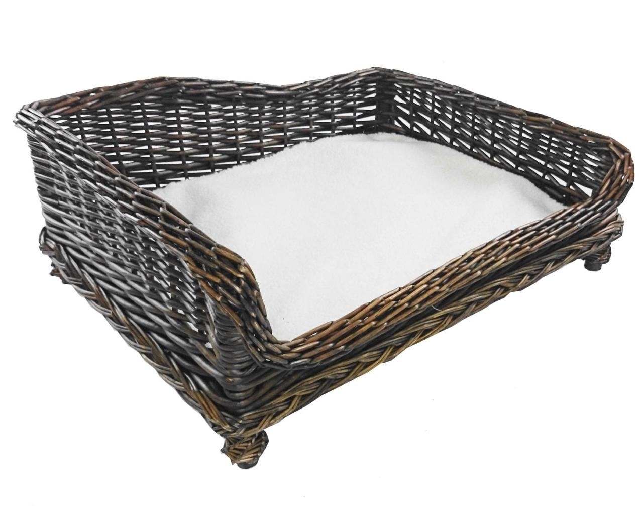brown large big huge xl dogs wicker pet bed basket seat. Black Bedroom Furniture Sets. Home Design Ideas