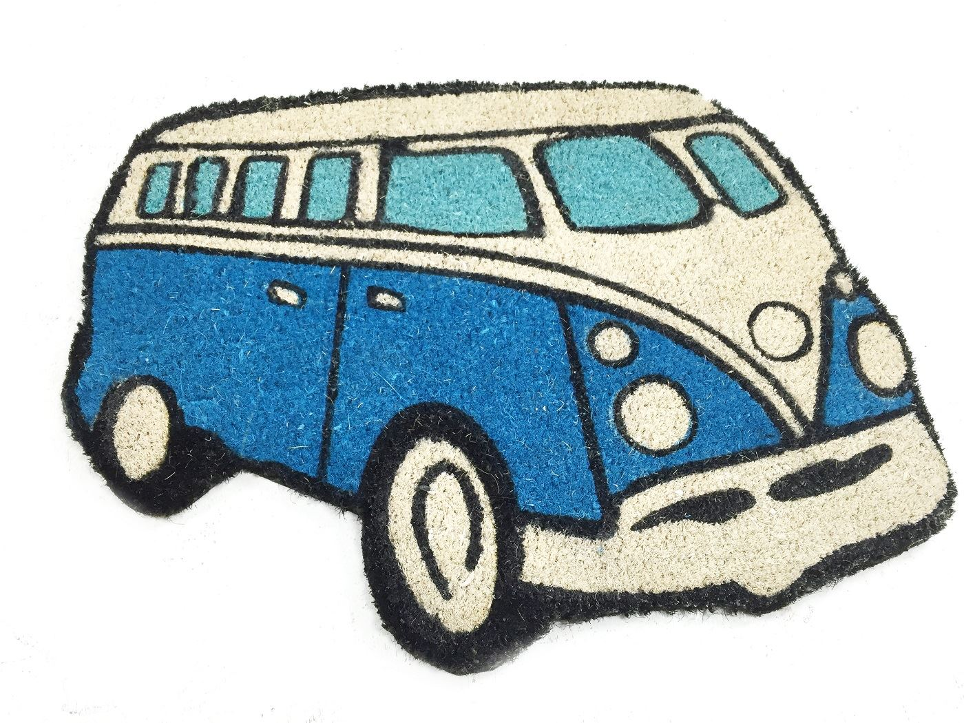 50x65cm Vw Campervan Shaped Design Indoor Outdoor Coir