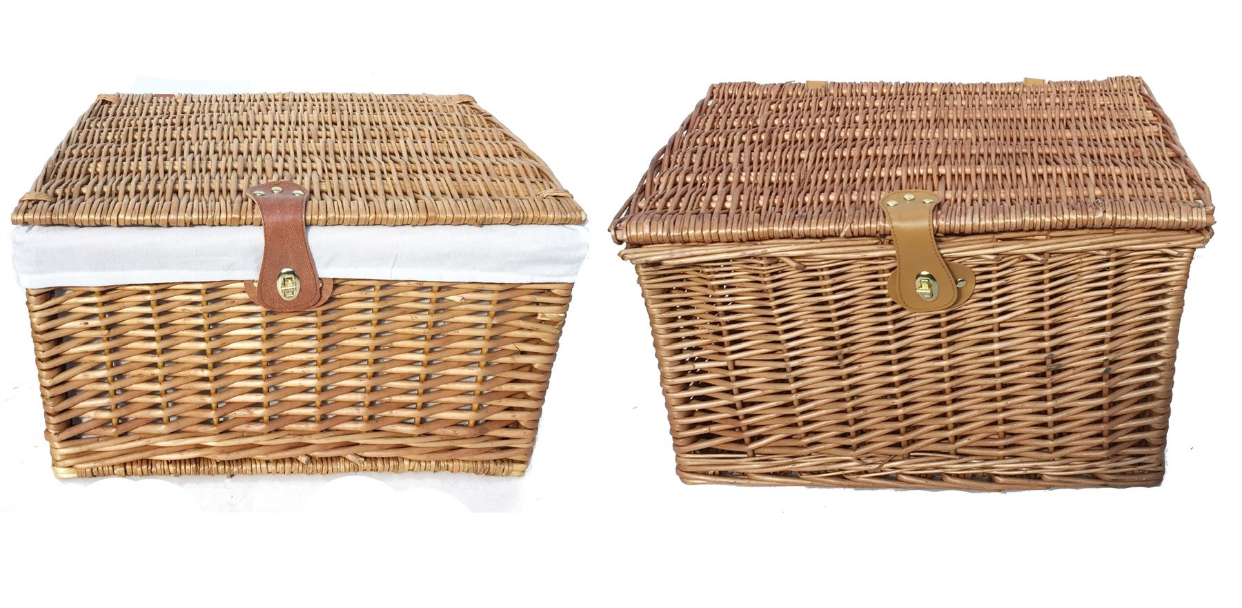 Empty Wicker Gift Baskets : Strong traditional picnic gift storage xmas christmas