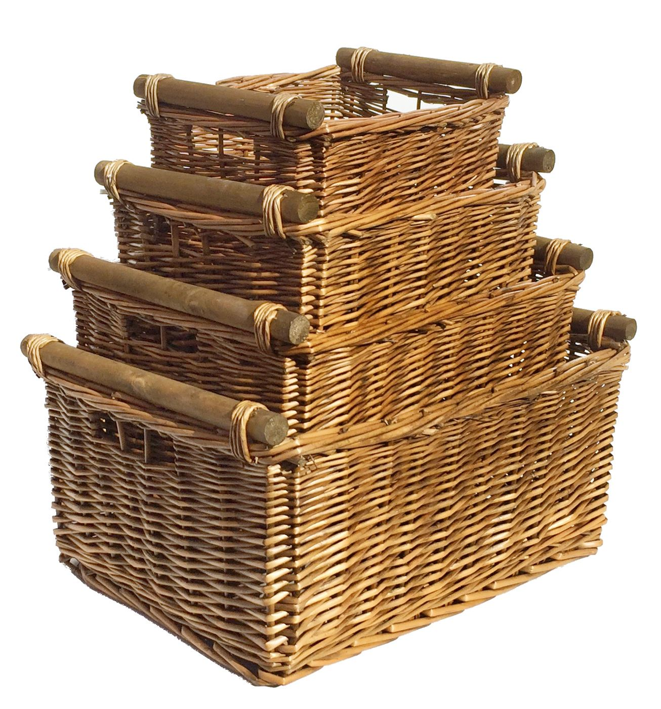large wicker log basket storage logs firewood fireplace wood