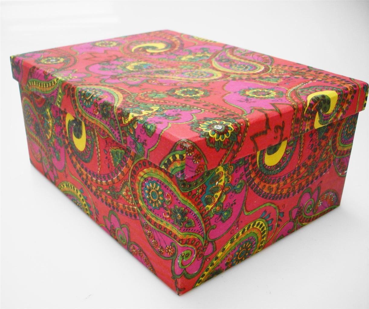 recycled colourful flower cardboard crafts storage box. Black Bedroom Furniture Sets. Home Design Ideas