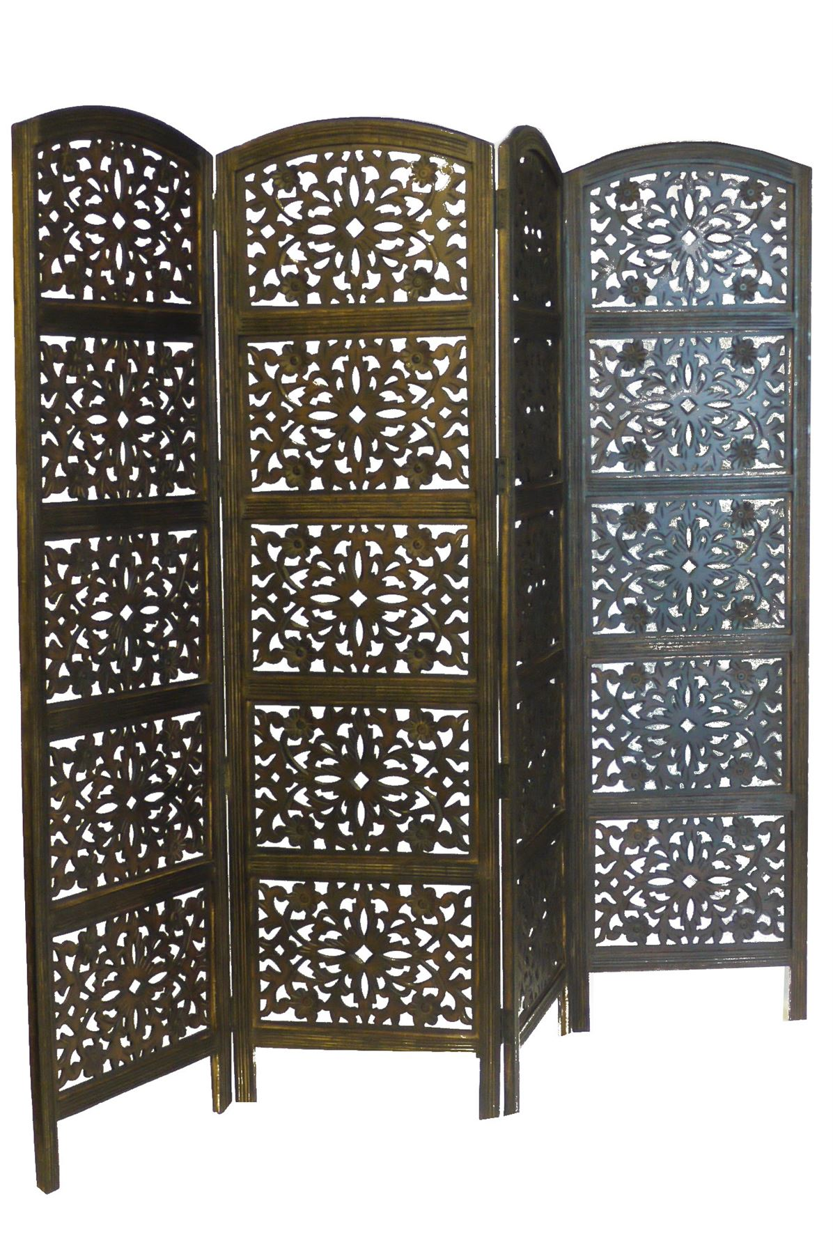 Wonderful image of   Heavy Duty Indian Screen Wooden Flower Design Screen Room Divider with #5B4C36 color and 1196x1800 pixels