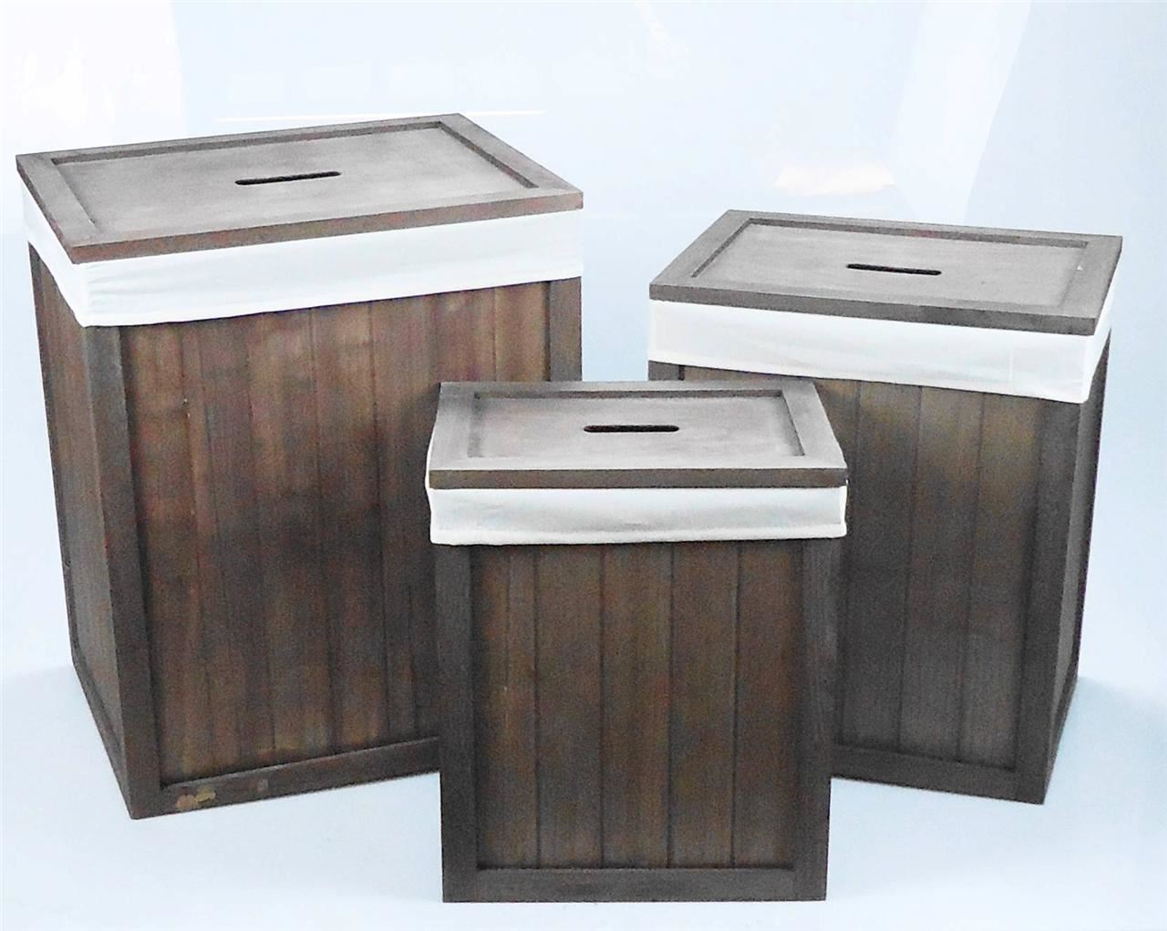 Wooden-Brown-White-Kids-Playroom-Toy-Box-Chest- & Wooden Brown White Kids Playroom Toy Box Chest Bathroom Laundry ... Aboutintivar.Com