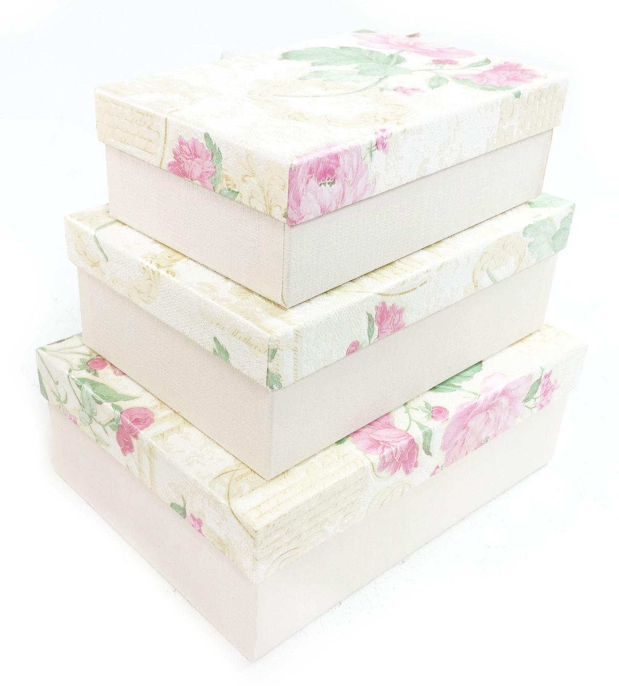 yellow floral rectangle hard cardboard craft storage xmas. Black Bedroom Furniture Sets. Home Design Ideas