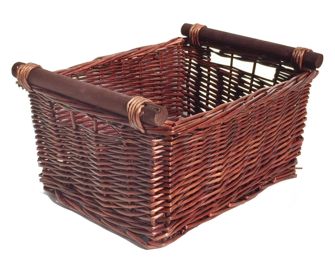 large wicker log basket storage logs firewood fireplace
